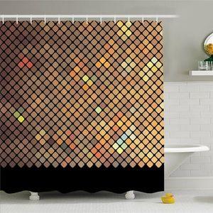 Shower Curtain Holographic Diamonds Print